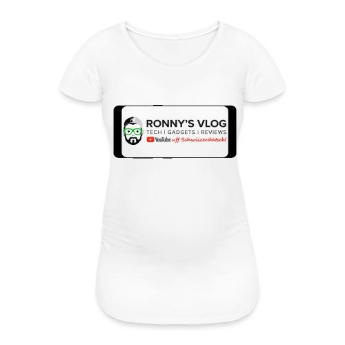 Galaxy S8 by Ronny's Vlog - Frauen Schwangerschafts-T-Shirt