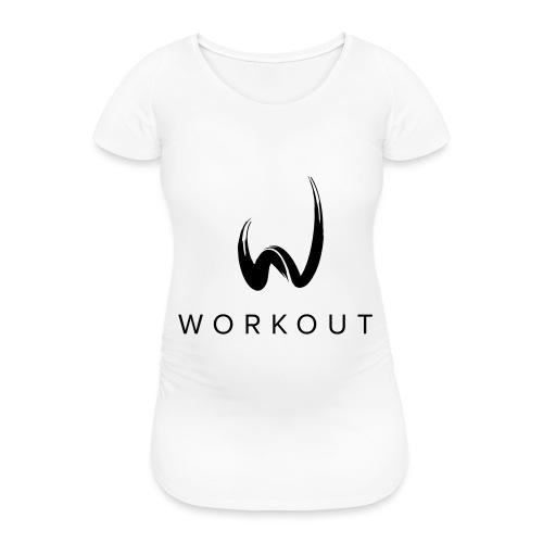 Workout mit Url - Frauen Schwangerschafts-T-Shirt