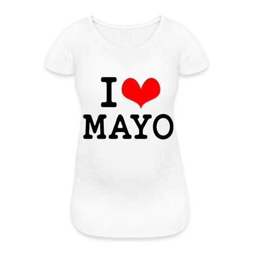 I Love Mayo - Women's Pregnancy T-Shirt