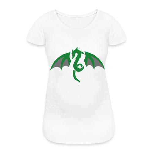 Red eyed green dragon - Vrouwen zwangerschap-T-shirt