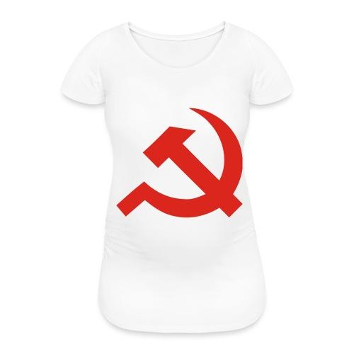 red Hammer and Sickle - T-shirt de grossesse Femme