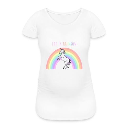 Eat a rainbow - Women's Pregnancy T-Shirt