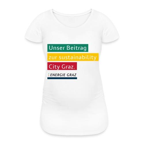 Energie Graz Vision - Frauen Schwangerschafts-T-Shirt