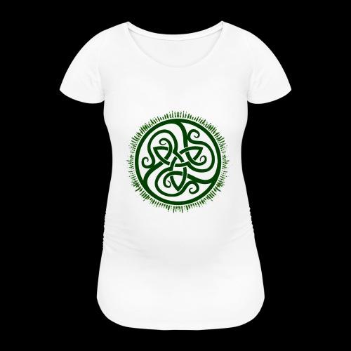 Green Celtic Triknot - Women's Pregnancy T-Shirt