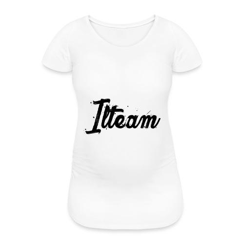 Ilteam Black and White - T-shirt de grossesse Femme