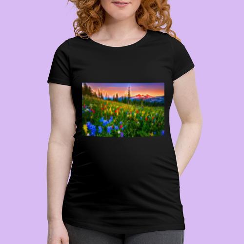 Bagliori in montagna - Maglietta gravidanza da donna