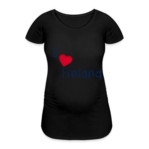 I Love Finland - Naisten äitiys-t-paita