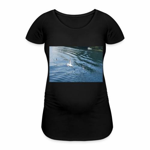 un Gabbiano che vola - Maglietta gravidanza da donna