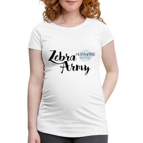 Zebra Army (black) - Women's Pregnancy T-Shirt