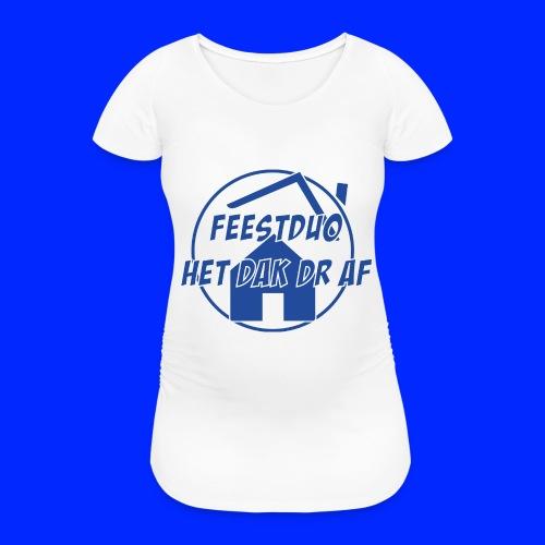 Simpel logo - Vrouwen zwangerschap-T-shirt