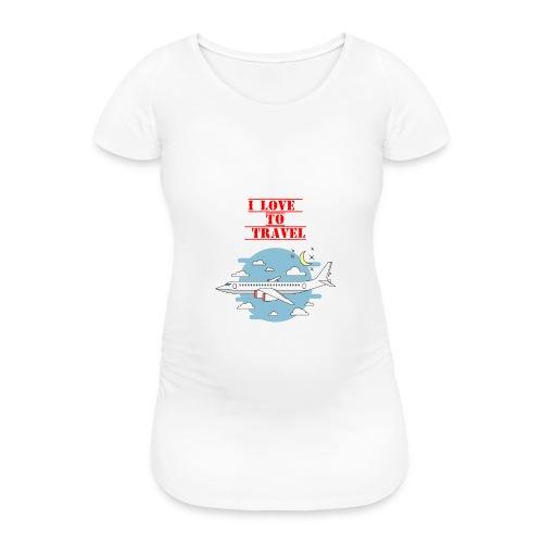 I Love To Travel - Maglietta gravidanza da donna