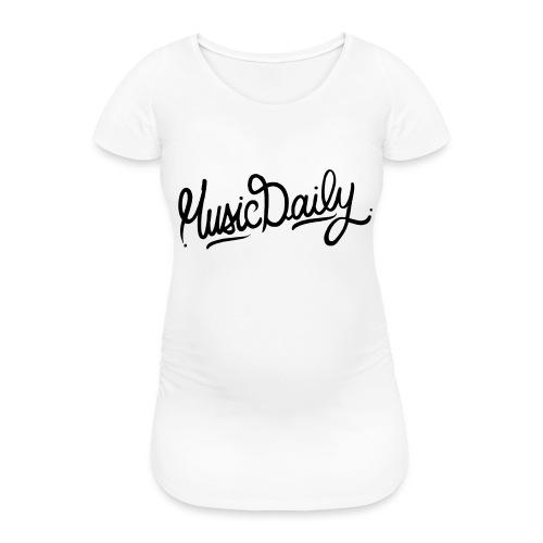 MusicDaily Logo - Vrouwen zwangerschap-T-shirt