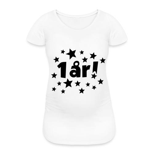 1 år! - T-skjorte for gravide kvinner
