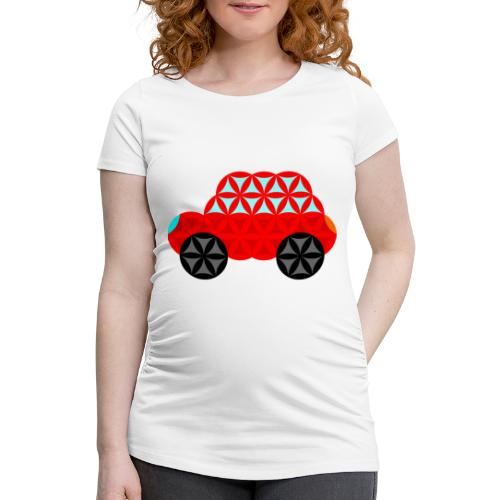 The Car Of Life - M01, Sacred Shapes, Red/R01. - Women's Pregnancy T-Shirt