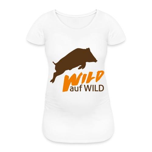 Logo Wild auf Wild Orange - Frauen Schwangerschafts-T-Shirt