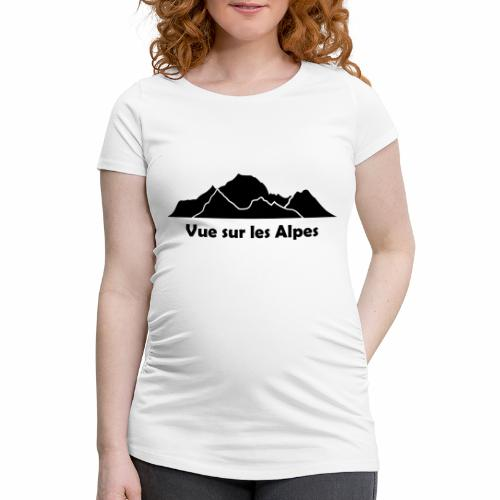 Vue sur les Alpes - T-shirt de grossesse Femme