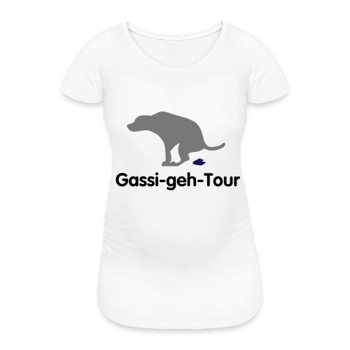 gassigehen - Frauen Schwangerschafts-T-Shirt