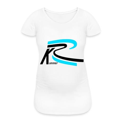 Roland Kummer Logo Schwarz - Frauen Schwangerschafts-T-Shirt