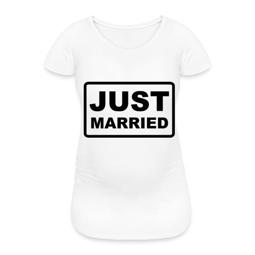 Just Married - Frauen Schwangerschafts-T-Shirt