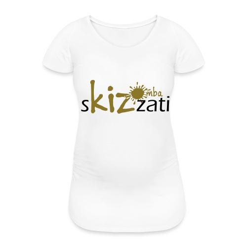 Beanie in jersey con logo sKizzati Kizomba - Verde - Maglietta gravidanza da donna