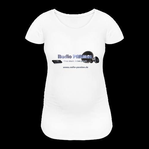 Radio PARALAX Facebook-Logo mit Webadresse - Frauen Schwangerschafts-T-Shirt
