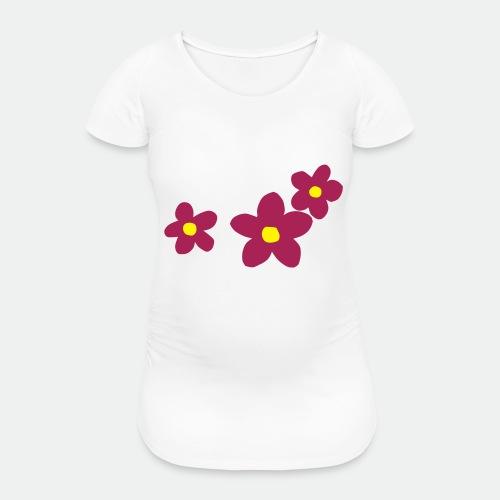 Three Flowers - Women's Pregnancy T-Shirt