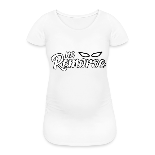 No Remorse Title With Eyes - Women's Pregnancy T-Shirt
