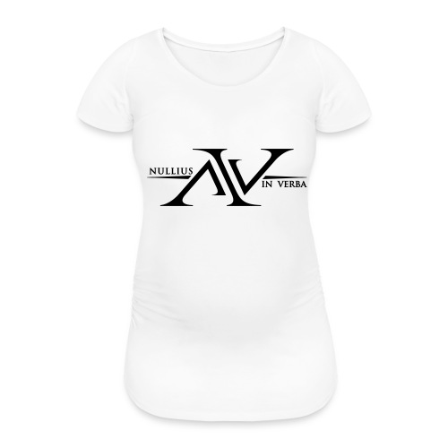 Nullius In Verba Logo - Women's Pregnancy T-Shirt
