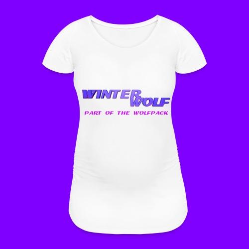 WINTERWOLF LOGO Part of The Wolfpack T-shirt - Vrouwen zwangerschap-T-shirt