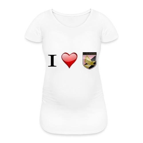 I Love Palermo - Maglietta gravidanza da donna
