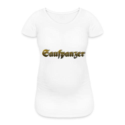 Saufpanzer_Schriftzug_Gold - Frauen Schwangerschafts-T-Shirt