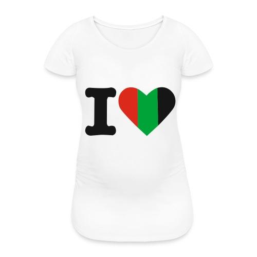hartjeroodzwartgroen - Vrouwen zwangerschap-T-shirt