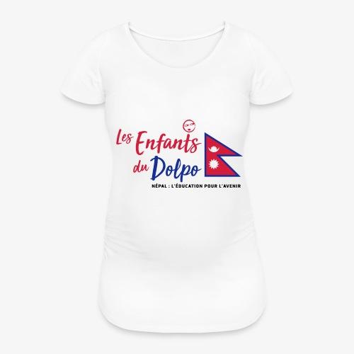 Les Enfants du Doplo - Grand Logo Centré - T-shirt de grossesse Femme