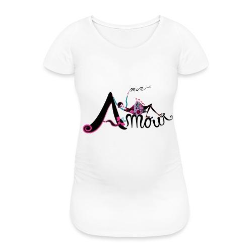 Love Mon Amour - Maglietta gravidanza da donna