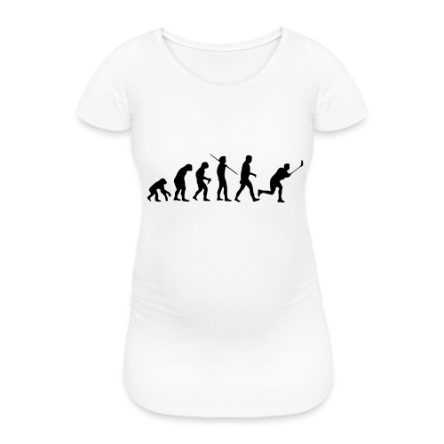 Floorball Evolution Black - Frauen Schwangerschafts-T-Shirt