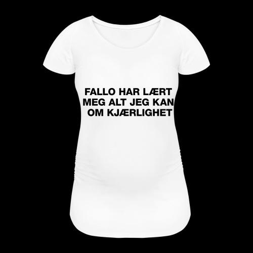 F-H-L-M-A-J-K-O-K-HOODIE - T-skjorte for gravide kvinner