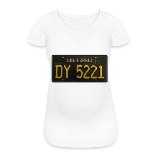 CALIFORNIA BLACK LICENCE PLATE - Women's Pregnancy T-Shirt