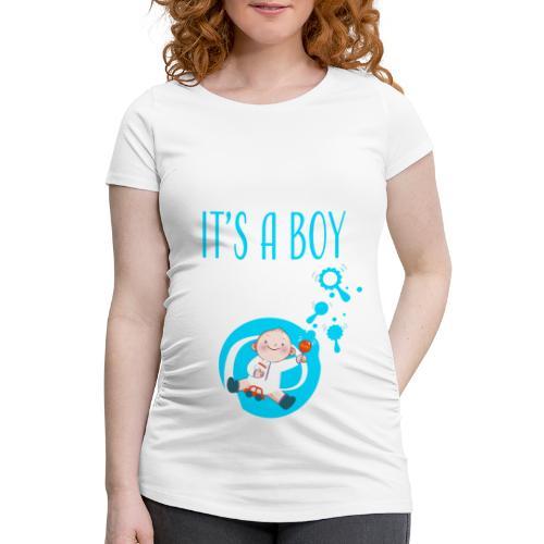 It's a Boy Auto. Witzige süße Umstandsmode T-Shirt - Frauen Schwangerschafts-T-Shirt