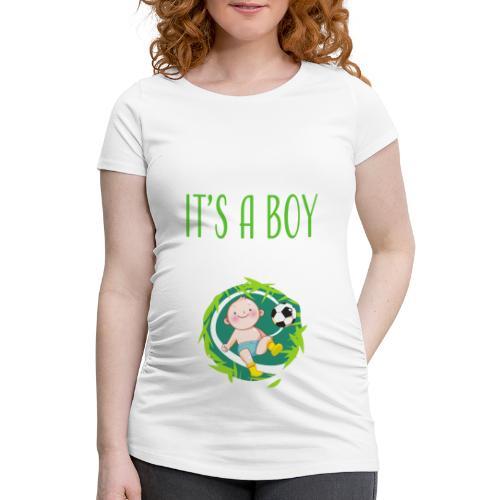 It's a Boy Fußball. Witzige Umstandsmode T-Shirt - Frauen Schwangerschafts-T-Shirt