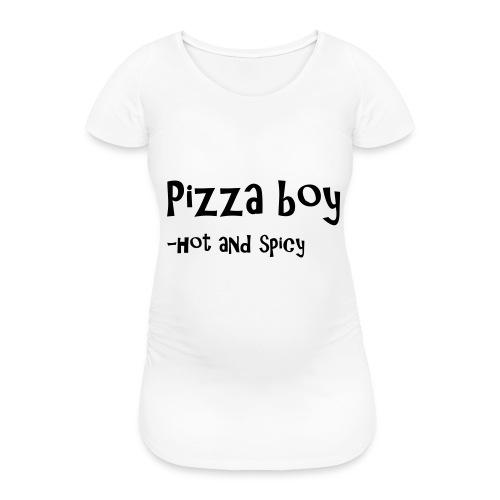 Pizza boy - T-skjorte for gravide kvinner
