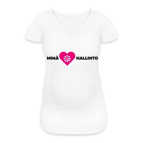 Minä ❤️ Hallinto - Naisten äitiys-t-paita