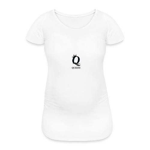 queens logo - T-skjorte for gravide kvinner