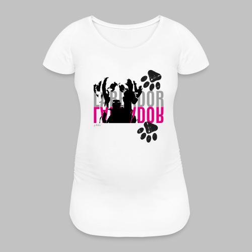 Labrador Kopf Pfoten - Frauen Schwangerschafts-T-Shirt