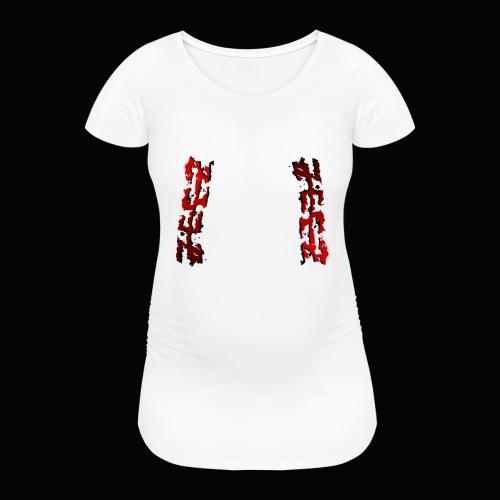 zeez rouge ombre noir abimé - T-shirt de grossesse Femme