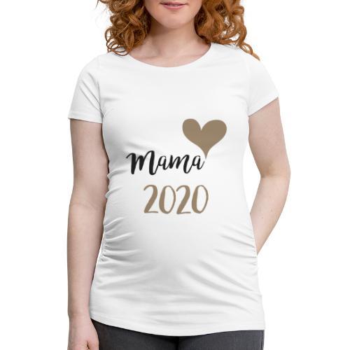 mama 2020 - Frauen Schwangerschafts-T-Shirt