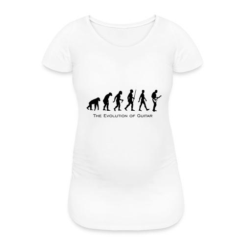 The Evolution Of Guitar - Camiseta premamá