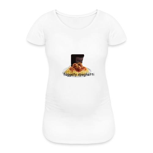 Fagetty Spaghetti (impact) - Women's Pregnancy T-Shirt