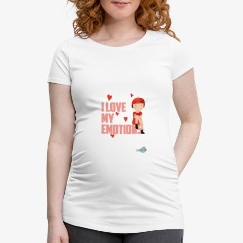 i love my emotions girl - Maglietta gravidanza da donna