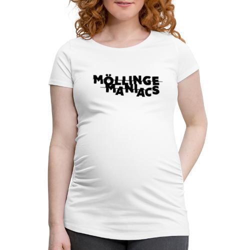 Möllinge Maniacs svart logga - Gravid-T-shirt dam