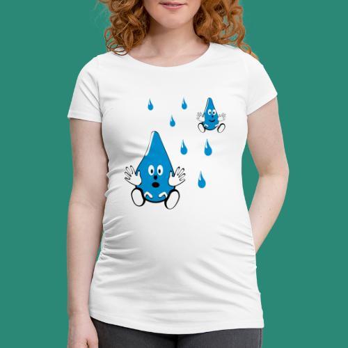 Tropfen - Frauen Schwangerschafts-T-Shirt